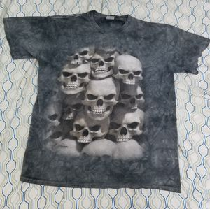 Vintage The Mountain Skull Pile All Over Print